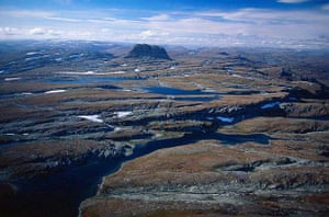 Aerial View of the High Plateau of Hardangervidda, Norway