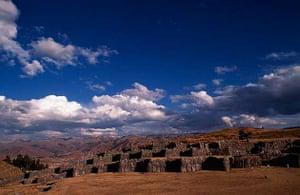 Incan Fortress of Sacsayhuaman above Cuzco, Peru