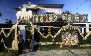 Elaborately decorated house