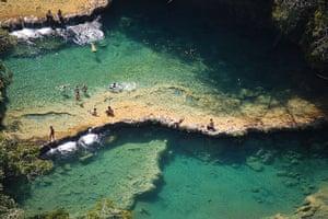 Pools at Semuc Champey, Guatemala