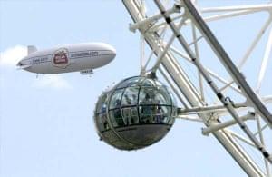 Stella Artois airship in London