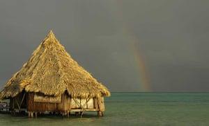 Beach hut, North East Caye, Belize