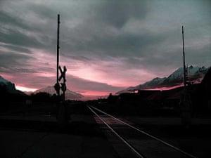 Train tracks, Canmore, Alberta, Canada