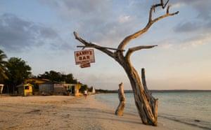 Beach bar sign, Negril, Jamaica