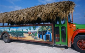 Thatched bus in Dominican Republic