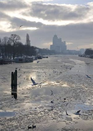 Amsterdam under snow