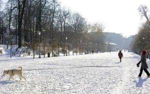 Brussels under snow