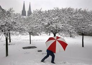Cologne under snow