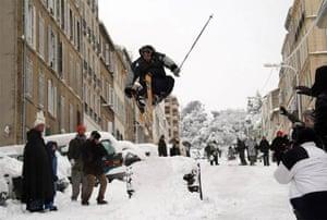 Marseille under snow