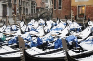 Venice under snow