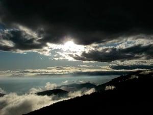 Passing storm over Lake Arrowhead