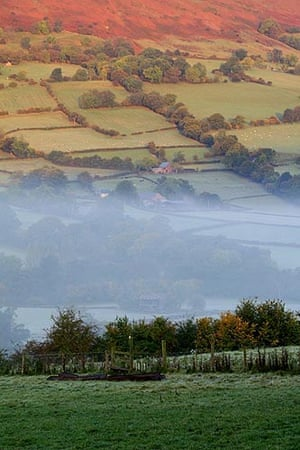 Monnow river valley