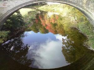 Reflection of Twizel Bridge