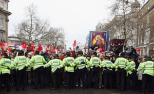 Olympic torch protests in London