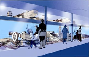 An artist's impression of Artefact gallery at main deck level