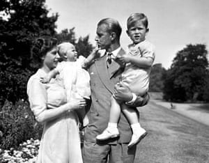 Prince Charles with his parents