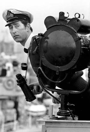 Prince Charles on HMS Bronington