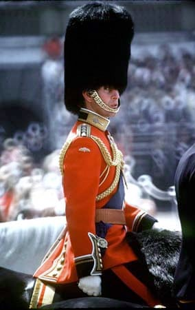 Prince Charles trooping the colour