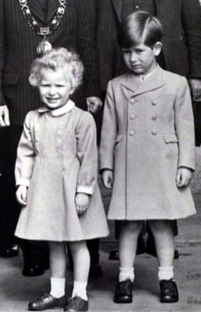 Prince Charles with Princess Anne