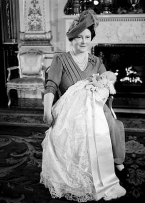 Queen mother with Prince Charles