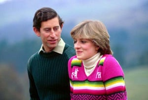 Prince Charles with Lady Diana Spencer