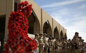 Wreath being laid in Basra
