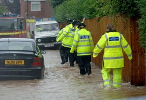The scene on Astral Close in Hull where a man died after getting his foot caught in a manhole following torrential rain