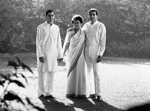 Indira, Rajiv and Sanjay Gandhi