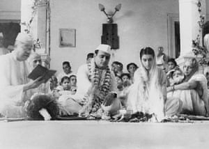 Indira Nehru and Feroze Gandhi