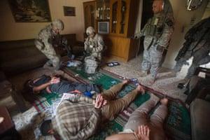 Destroyed Bradley IFV in Iraq