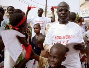 Senegalese protesters