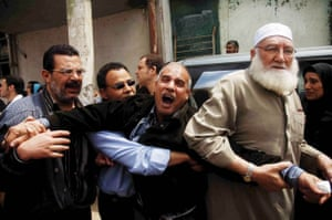 The mourning father of a 15-year-old boy, allegedly killed  by police during rioting against the rising cost of living in Egypt