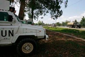 UN soldier truck