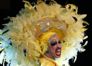 Sydney, Australia: A drag queen performs at the Drag Industry DIVA Variety Awards