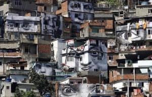 Rio de Janeiro, Brazil: The facades of houses in Providencia