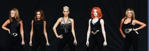 Chelmsford, UK: Cheryl Cole, Nadine Coyle, Nicola Roberts, Kimberley Walsh and Sarah Harding of Girls Aloud perform live on the V stage during Day Two of V Festival