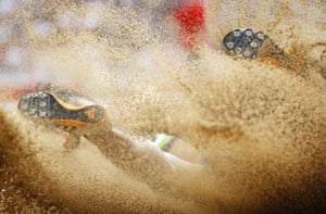 Beijing, China: Viorica Tigau of Romania competes during the women's long jump qualification round