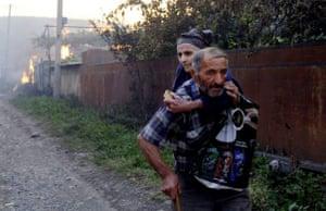 Georgians flee South Ossetian militia