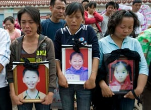 protest and a vigil at the Fu Xin elementary school