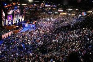 Democrat convention crowd