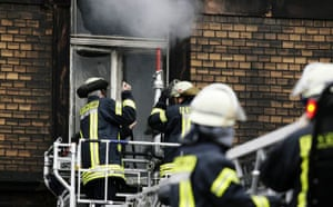 Fire in Ludwigshafen