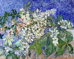 'Blossoming Chestnut Branches' by Vincent van Gogh (1890)