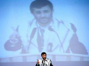 May 7 2006, Tehran, Iran: President Mahmoud Ahmadinejad speaks at the Basij Militia