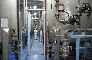 February 3 2007, Isfahan, Iran: A technician at the uranium conversion facility