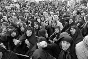 November 21 1979, Tehran, Iran: Hundreds of thousands of women demonstrate against the US for the hostages who are in their 19th day of captivity