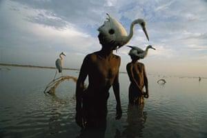 Mohanis fishermen catch herons