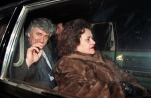 February 2994, Moscow, Russia: Radovan Karadzic and his wife Ljiljana after arriving in Moscow for talks with Russian officials on the situation in Bosnia