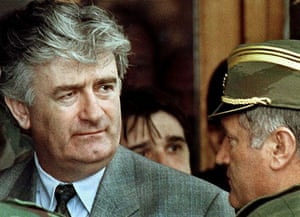 May 1993: Radovan Karadzic listens to Commander General Ratko Mladic