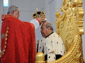 King George Tupou V is crowned