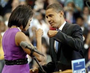 Barack Obama wins Democratic presidential candidacy